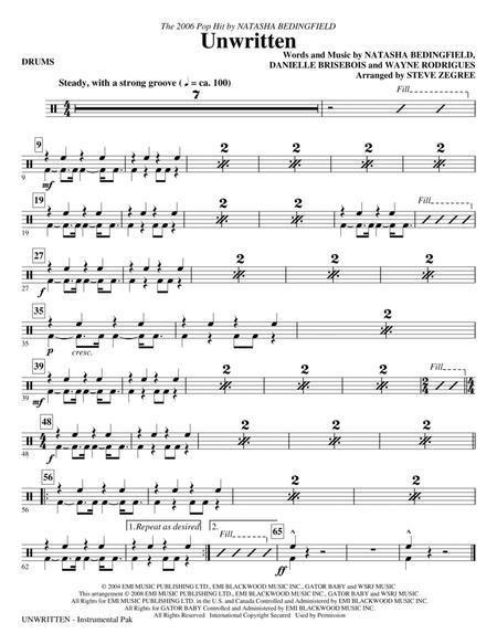 Unwritten - Drums