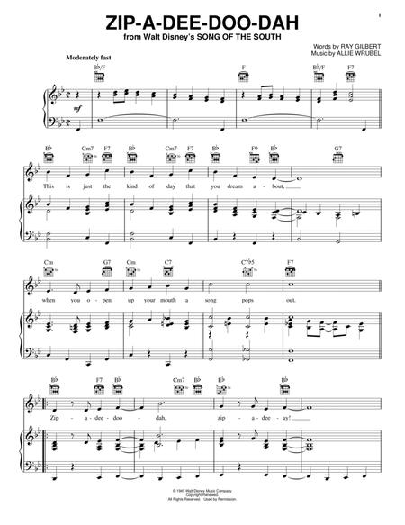Download Zip A Dee Doo Dah Sheet Music By Ray Gilbert Sheet Music Plus