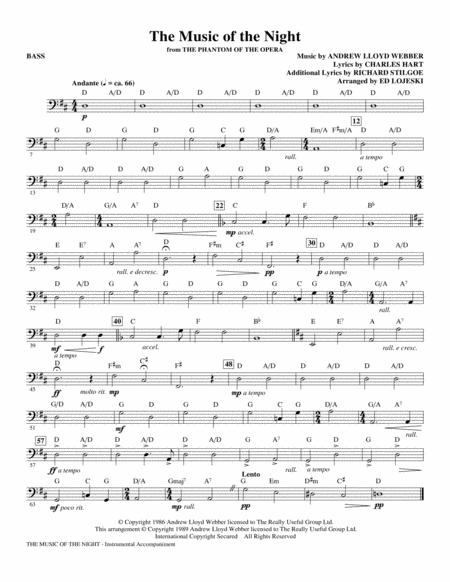 The Music Of The Night (from The Phantom Of The Opera) - Bass