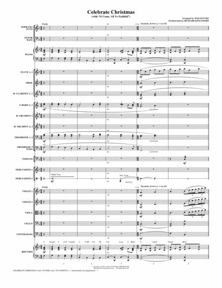 Celebrate Christmas (with O Come, All Ye Faithful) - Full Score