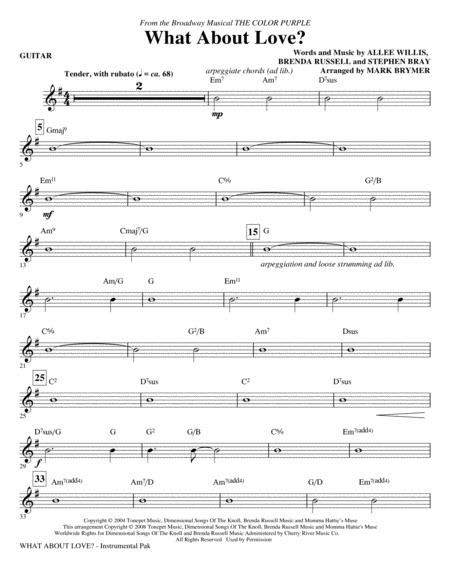 What About Love? (from The Color Purple) - Guitar