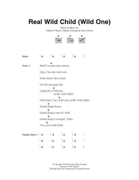 Real Wild Child (Wild One)
