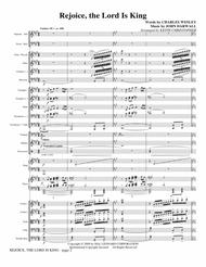 Rejoice, The Lord Is King - Full Score