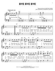 Download Bye Bye Bye Sheet Music By N Sync Sheet Music Plus