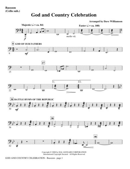 God And Country Celebration (Medley) - Keyboard String Reduction