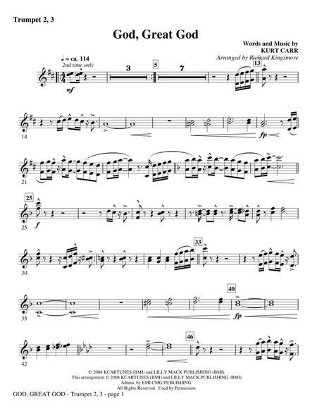 God, Great God - Bb Trumpet 2,3