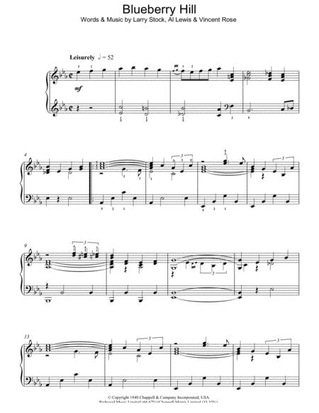 Download Blueberry Hill Sheet Music Sheet Music Plus