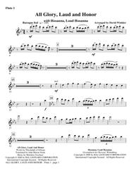 All Glory, Laud, And Honor (with Hosanna, Loud Hosanna) - Flute 1