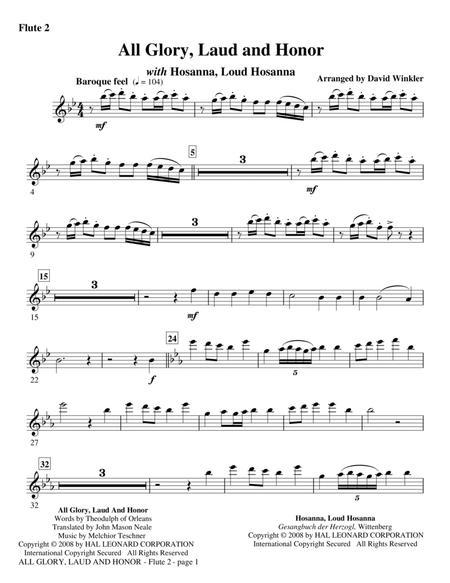 All Glory, Laud, And Honor (with Hosanna, Loud Hosanna) - Flute 2