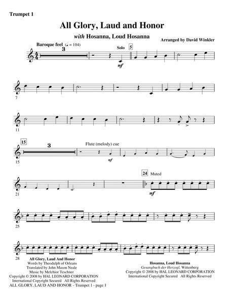 All Glory, Laud, And Honor (with Hosanna, Loud Hosanna) - Bb Trumpet 1