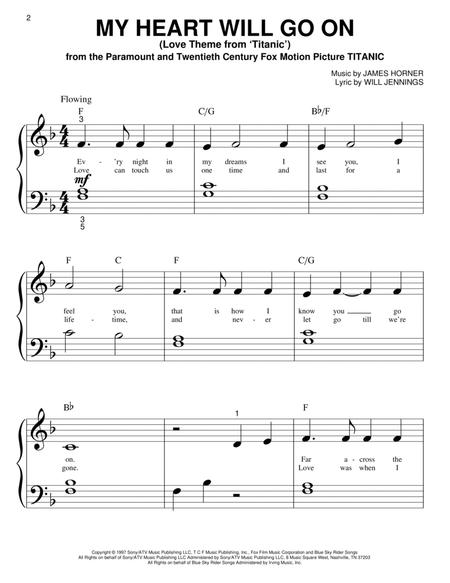 Download My Heart Will Go On Love Theme From Titanic Sheet Music
