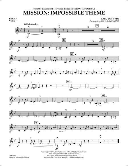 Mission: Impossible Theme - Pt.3 - Violin