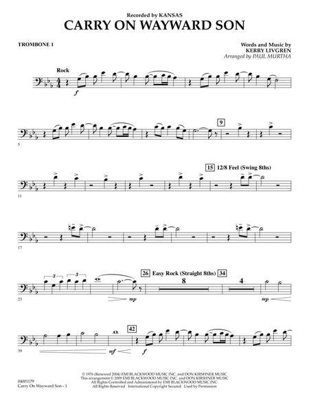 Download Carry On Wayward Son - Trombone 1 Sheet Music By Kansas ...