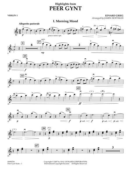 Highlights from Peer Gynt - Violin 1