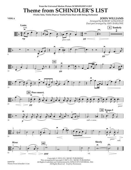 Theme from Schindler's List - Viola