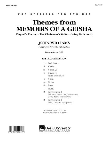 Themes from Memoirs of a Geisha - Full Score