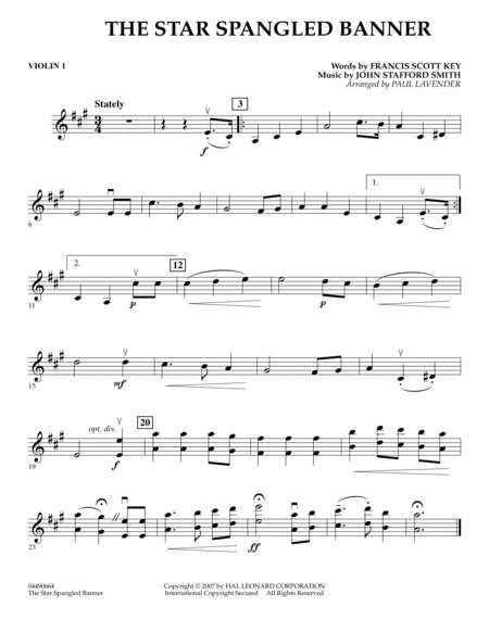 Download Star Spangled Banner Violin 1 Sheet Music By Paul