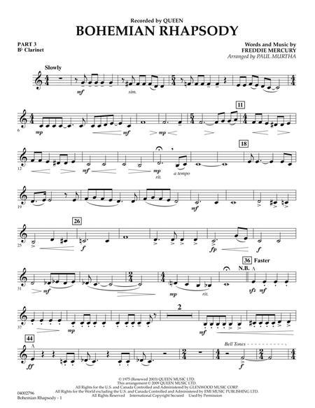 Bohemian Rhapsody - Pt.3 - Bb Clarinet