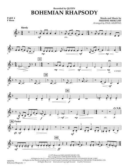 Bohemian Rhapsody - Pt.4 - F Horn