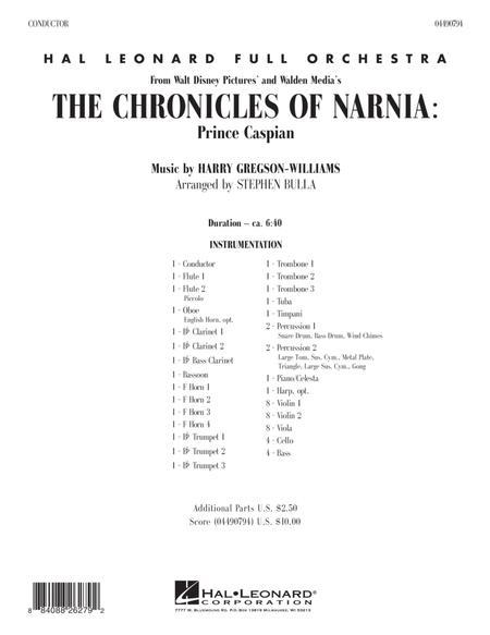 The Chronicles of Narnia: Prince Caspian - Full Score
