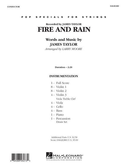 Fire and Rain - Full Score