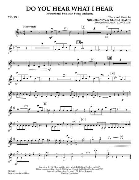Do You Hear What I Hear - Violin 1