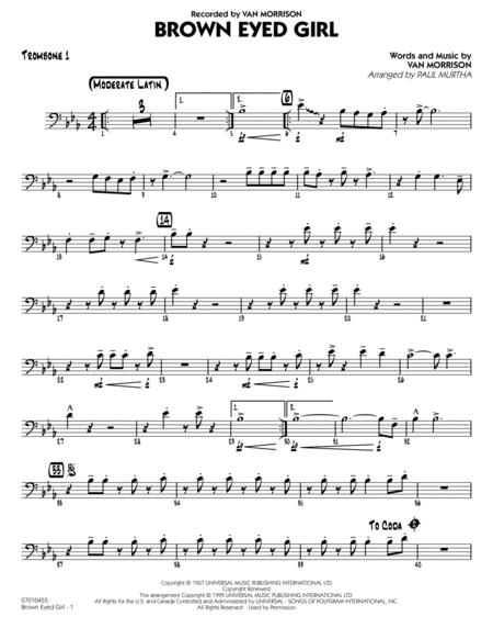 Brown Eyed Girl - Trombone 1