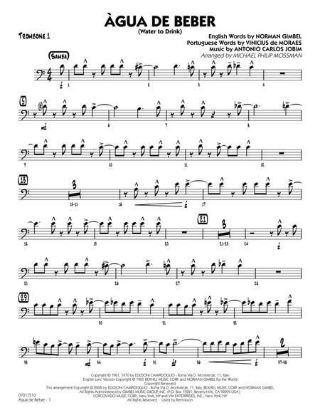 Agua de Beber (Water to Drink) - Trombone 1