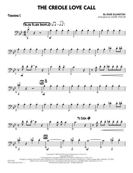 The Creole Love Call - Trombone 2