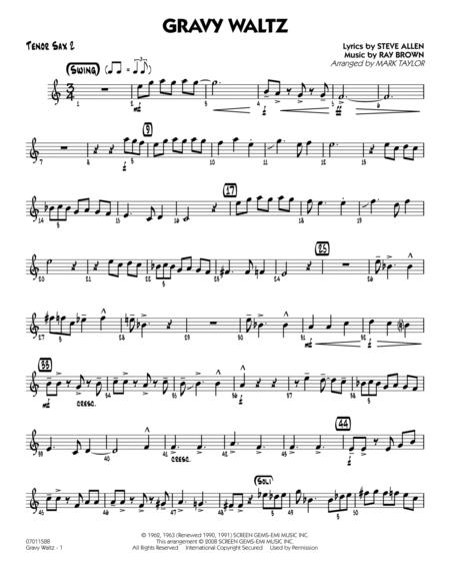 Gravy Waltz - Tenor Sax 2