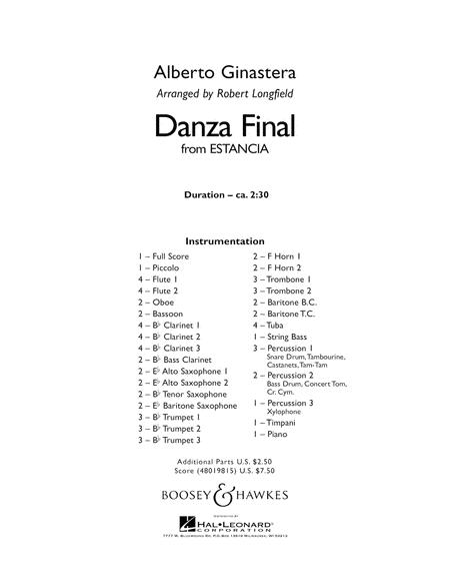 Danza Final (from