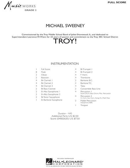 Troy! - Full Score