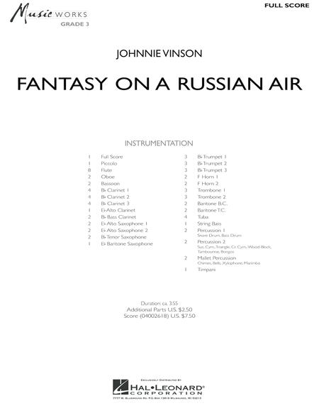 Fantasy on a Russian Air - Full Score
