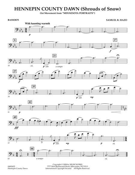 Hennepin County Dawn (Mvt. 1 of Minnesota Portraits) - Bassoon