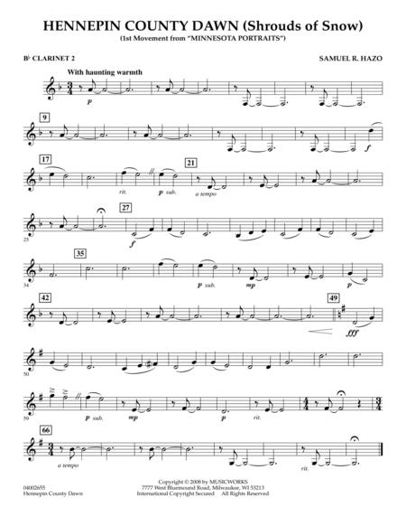 Hennepin County Dawn (Mvt. 1 of Minnesota Portraits) - Bb Clarinet 2