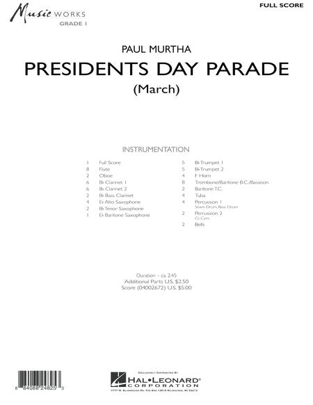 Presidents Day Parade (March) - Full Score