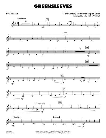 Greensleeves - Bb Clarinet