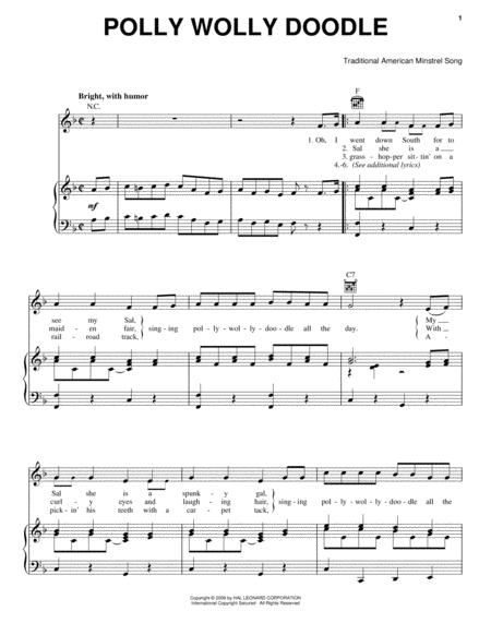 Download Polly Wolly Doodle Sheet Music By Traditional American