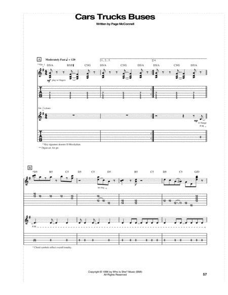 Download Cars Trucks Buses Sheet Music By Phish Sheet Music Plus
