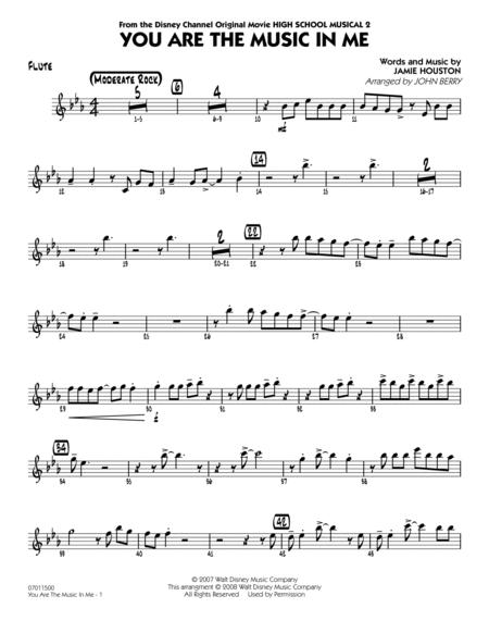 You Are The Music In Me (from High School Musical 2) - Flute
