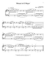 Menuet In G Major, BWV App. 116
