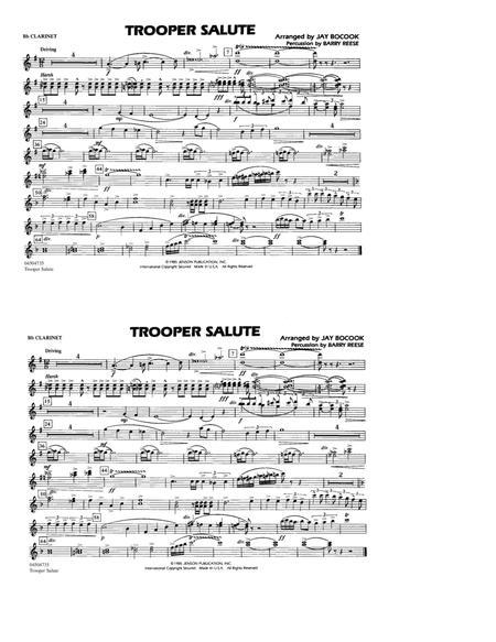 Trooper Salute - Bb Clarinet