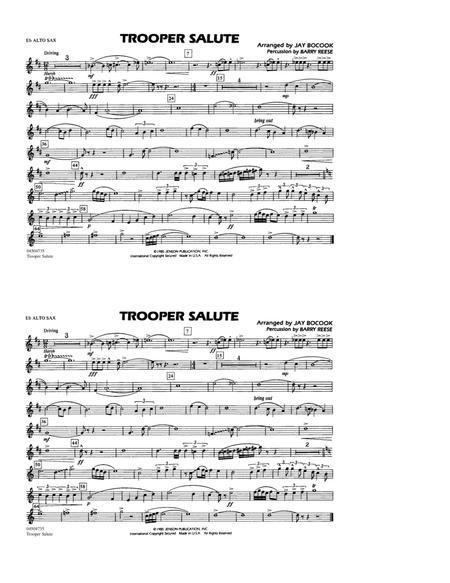 Trooper Salute - Eb Alto Sax
