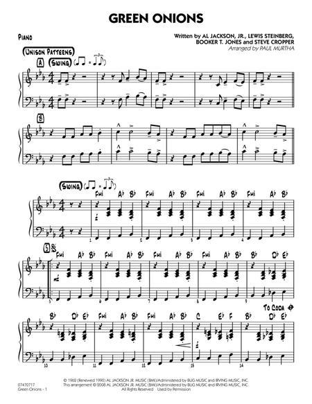Green Onions - Piano
