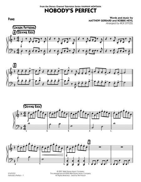 Nobody's Perfect - Piano