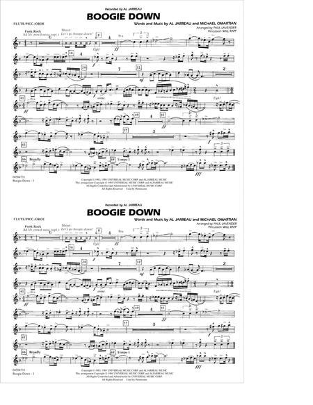 Boogie Down - Flute/Picc./Oboe