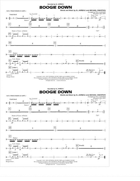 Boogie Down - Aux. Percussion 2