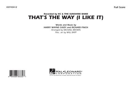 That's the Way (I Like It) - Full Score