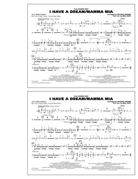 I Have a Dream/Mamma Mia! - Aux Percussion