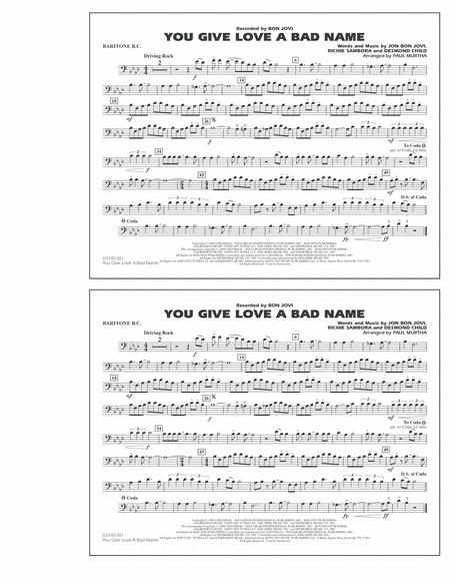 You Give Love a Bad Name - Baritone B.C.